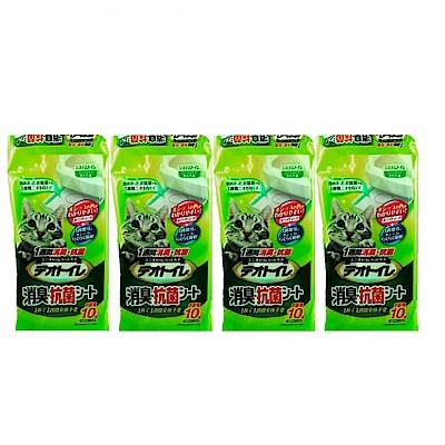 日本 Unicharm 嬌聯 雙層貓砂盆專用抗菌消臭尿布墊 10片 x 4包組