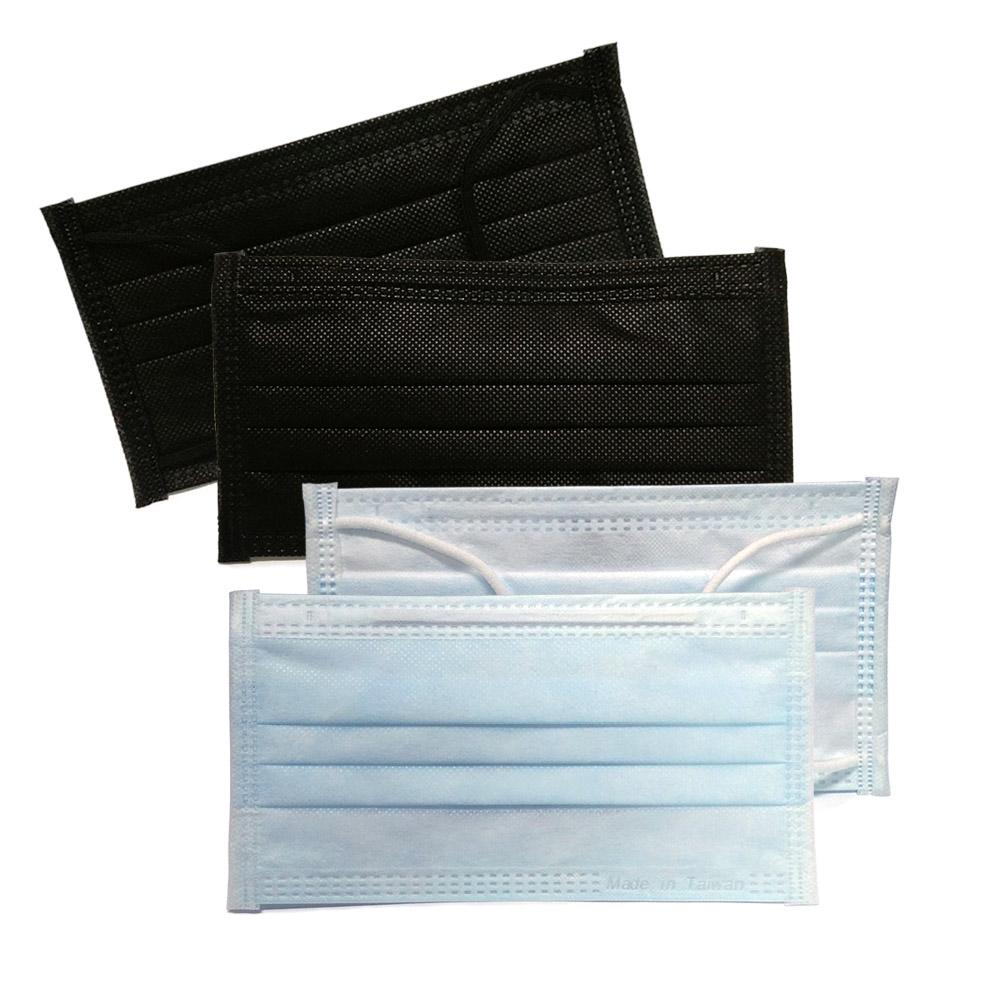 【貝斯康】日安美醫用口罩-未滅菌(黑x2+藍)共150片