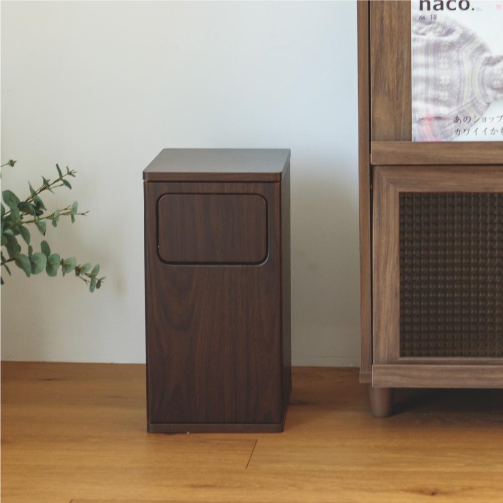 完美主義 日系簡約木紋質感垃圾桶/收納桶/儲物桶/分類桶-小款(2色) product image 1