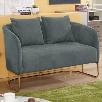 【文創集】瓦加杜  現代棉麻布二人座沙發椅(二色可選)-133x65x82cm免組