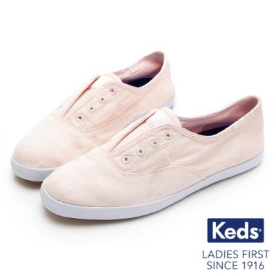 Keds CHILLAX 經典水洗斜紋休閒鞋-粉紅