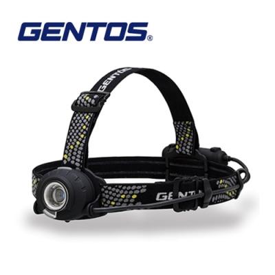 【Gentos】Head Wars後方警示專業頭燈-350流明 IP64