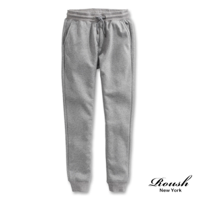 Roush 泰迪熊毛絨設計保暖棉質長褲