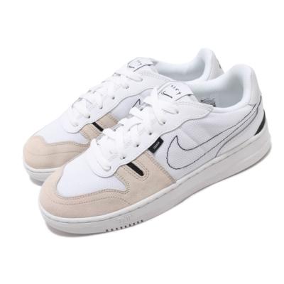 Nike 休閒鞋 Squash Type 運動 女鞋 輕量 舒適 簡約 麂皮 大童 穿搭 白 灰  CJ4119100