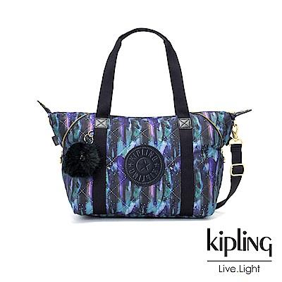 Kipling 渲染潑墨金點印花手提側背包-ART