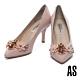 高跟鞋 AS 絢麗優雅花卉晶鑽尖頭高跟鞋-粉 product thumbnail 1