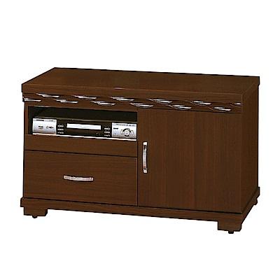綠活居 盧比時尚3尺木紋電視櫃/視聽櫃-88.5x48.3x54cm-免組