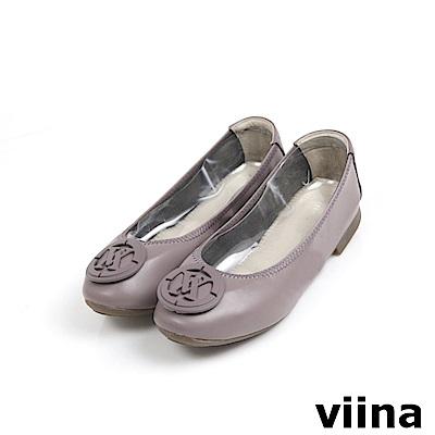 viina超纖烤漆釦摺疊鞋MIT - 暗藕粉