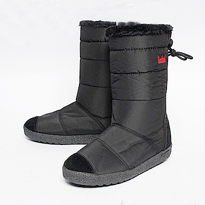 【AIRKOREA韓國空運】正韓電繡皇冠鋪棉保暖內鋪毛中筒雪靴-黑