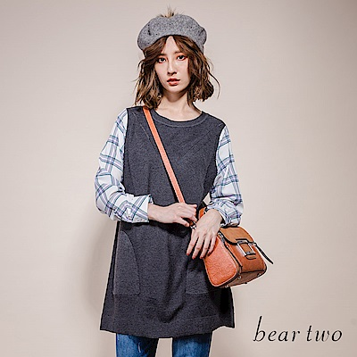 beartwo 假兩件式休閒甜美長版上衣(2色)