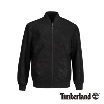 Timberland 男款黑色雙面穿壓紋飛行員夾克|A1XWV