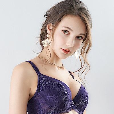 推EASY SHOP-花氛宣言 美背款B-E罩內衣(迷蝶紫)