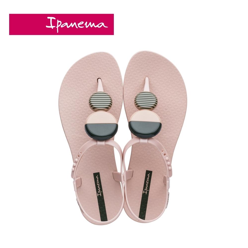 Ipanema ELLA FEM圓型幾何裝飾T字涼鞋-淺粉