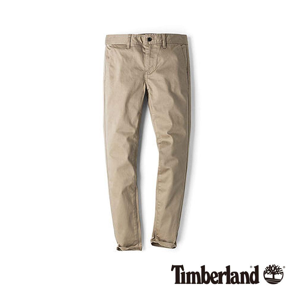 Timberland 女款英式卡其色舒適顯瘦緊身彈力棉休閒褲|B2203