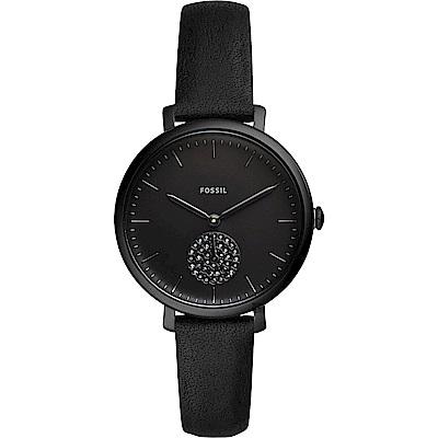 FOSSIL Jacqueline 時尚酷黑石英女錶-36mm