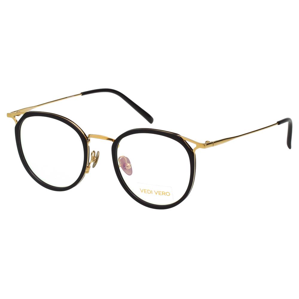 VEDI VERO 優雅小復古 β鈦 光學眼鏡 (黑配金) @ Y!購物