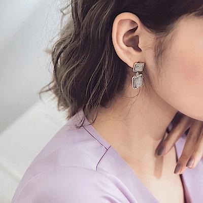 輕奢復古方塊耳環-OB大尺碼