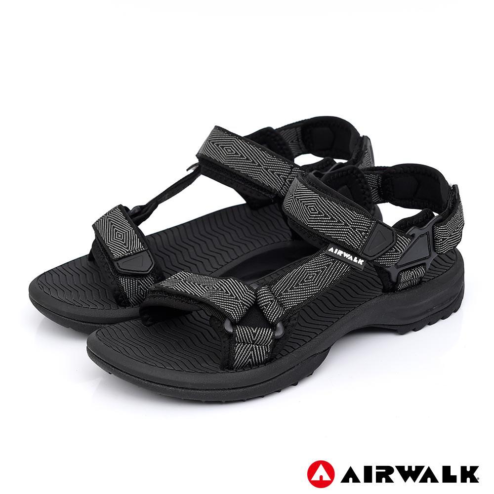 【AIRWALK】Y字兩用休閒涼鞋-黑色