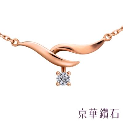 京華鑽石 鑽石項鍊 18K玫瑰金 Delphin德爾芬 0.06克拉