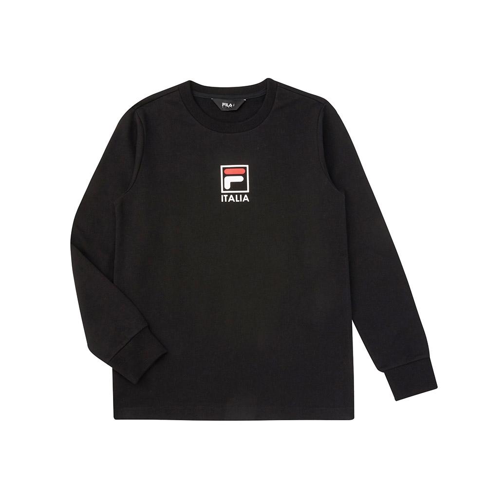 FILA KIDS 童長袖圓領上衣-黑色 1TEV-8901-BK