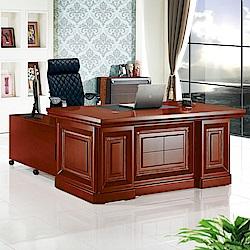 Bernice-達斯5.9尺尊爵辦公桌組合(辦公桌+側櫃+活動櫃)-176x90x76cm