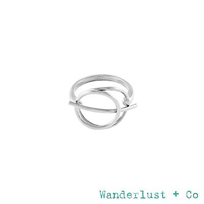 Wanderlust+Co INFUSION系列 星軌鍍RHODIUM戒指 戒圍6