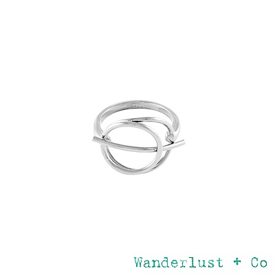 Wanderlust+Co INFUSION系列 星軌鍍RHODIUM戒指 戒圍7
