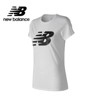 New Balance NB DRY 棉感短袖上衣_女_白色_WT91842WT