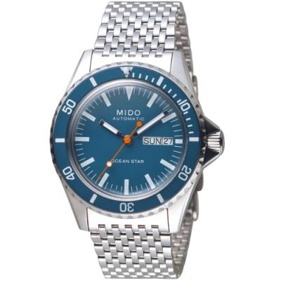 MIDO美度海洋之星TRIBUTE 75週年特別腕錶(M0268301104100)-藍