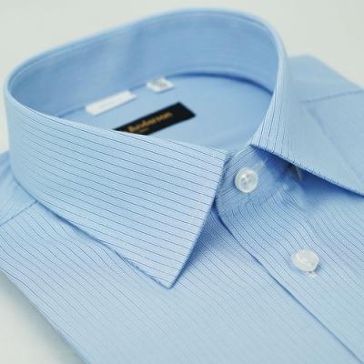 【金安德森】藍色條紋窄版短袖襯衫fast