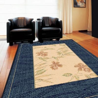范登伯格 - 光庭天然羊毛花印進口地毯 -淡藍 (200x290cm)