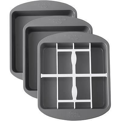 《Wilton》8吋不沾方形深烤盤+分隔器