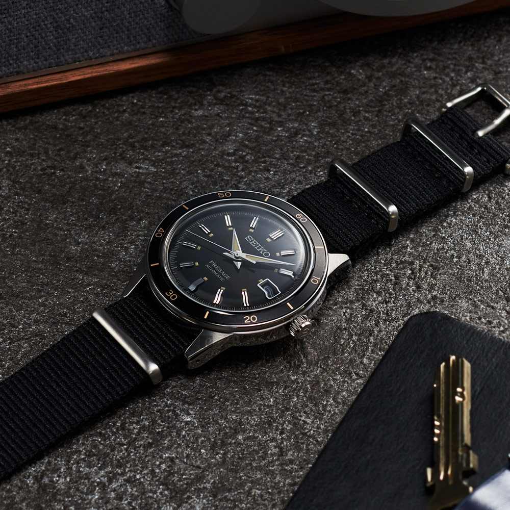 SEIKO精工 Presage Style60's系列機械錶-40.8mm (SRPG09J1/4R35-05A0U)