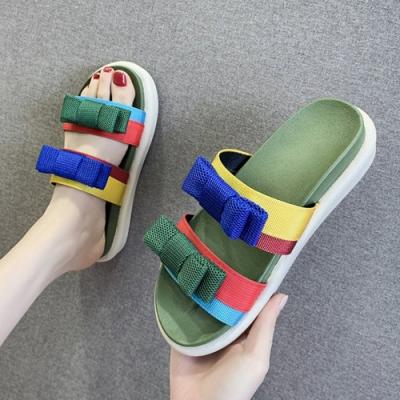 KEITH-WILL時尚鞋館 年度精選色彩繽紛涼拖鞋-綠