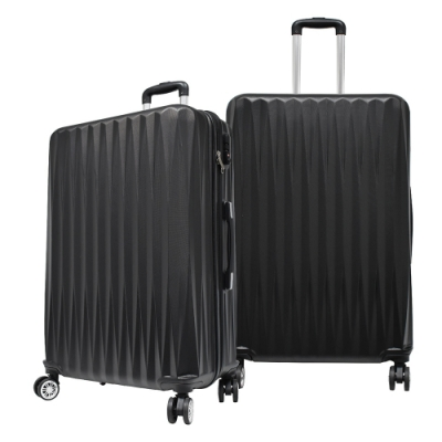 RAIN DEER 馬蒂司24吋ABS拉鍊行李箱/旅行箱-黑色