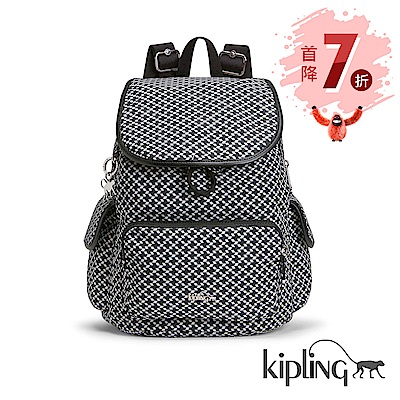 Kipling 後背包 簡約菱格-中