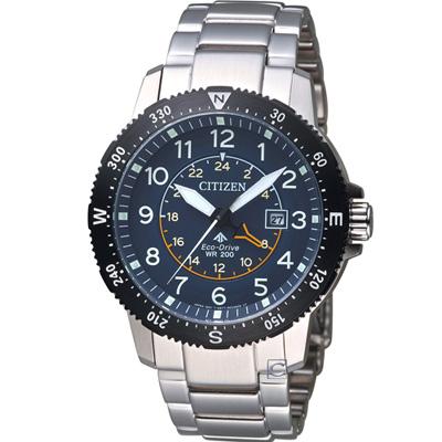 CITIZEN星辰PROMASTER前瞻領向光動能腕錶(BJ7094-59L)-藍