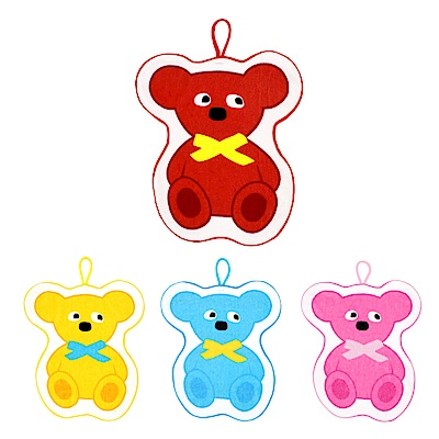 WHY AND 1/2 mini 普普熊毛巾圍兜兩用 多色可選