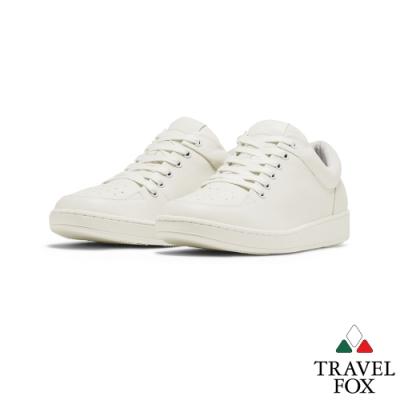 TRAVEL FOX(男)Classic 900 Low低筒經典休閒鞋 -白