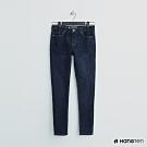 Hang Ten - 女裝 - 簡約素面修身牛仔窄褲 - 深藍