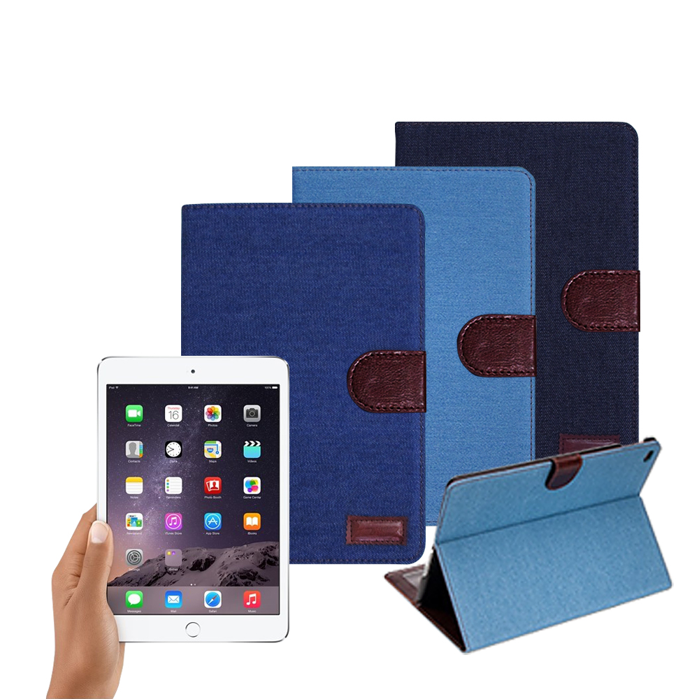 VXTRA iPad 2018 9.7吋 率性牛仔 超薄支架保護套