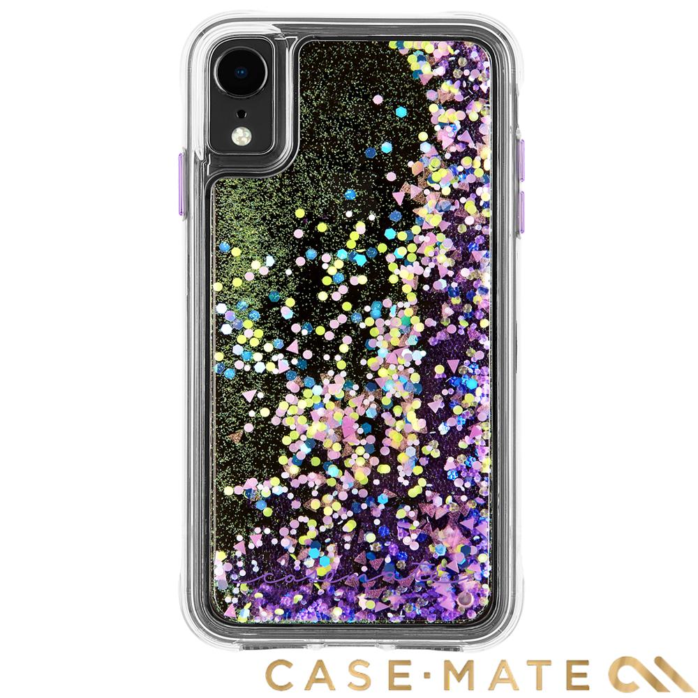 美國 Case-Mate iPhone XR Waterfall 亮粉瀑布防摔殼- 螢光紫