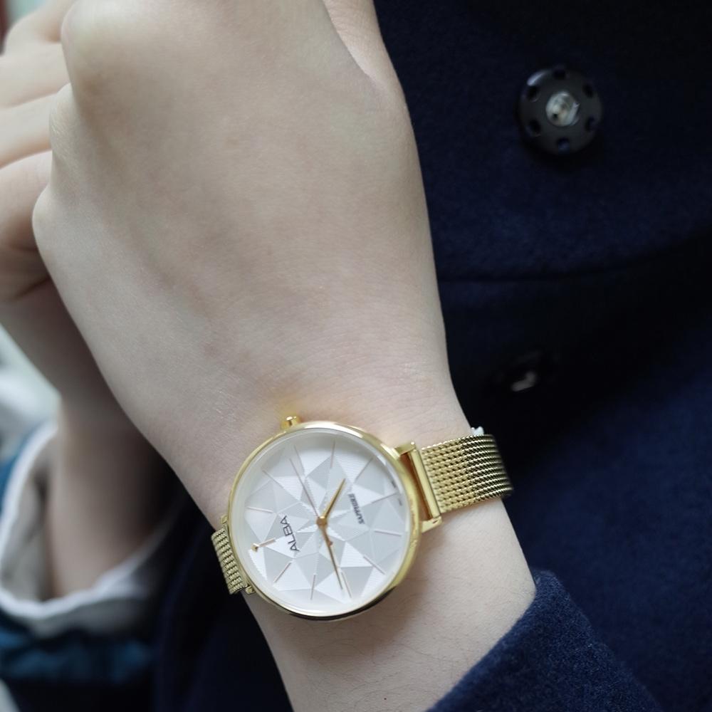 ALBA 幾何米蘭時尚女錶(AH8686X1)34mm/VJ21-X156G