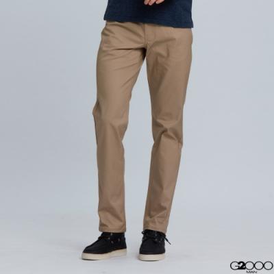 G2000平紋休閒五袋長褲-卡其色