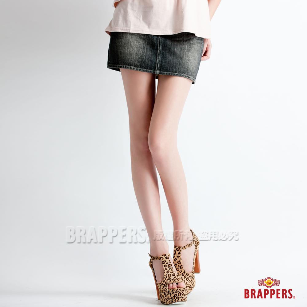 BRAPPERS-女款迷你裙-灰黑