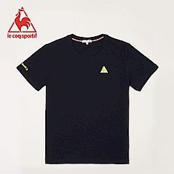 le coq sportif 法國公雞牌經典印花圓領短袖T恤 男女-丈青
