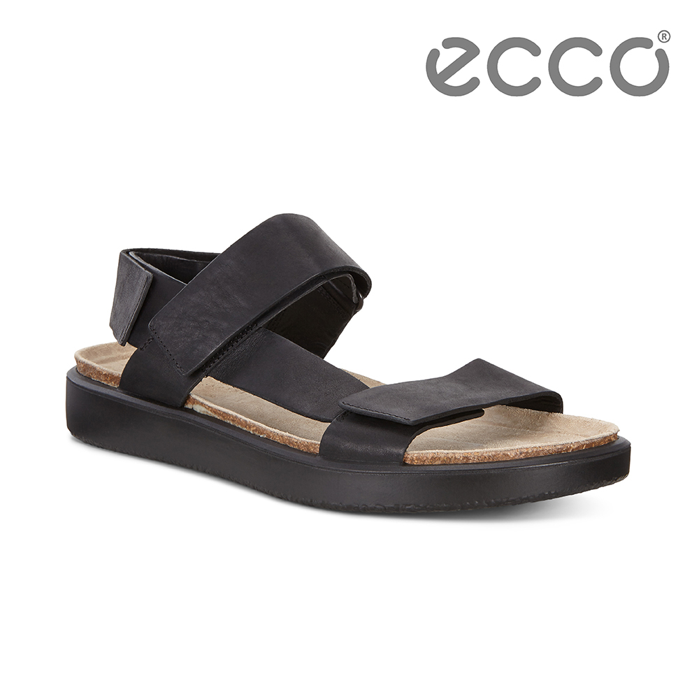 ECCO CORKSPHERE SANDAL M 質感牛皮休閒涼鞋 男-黑