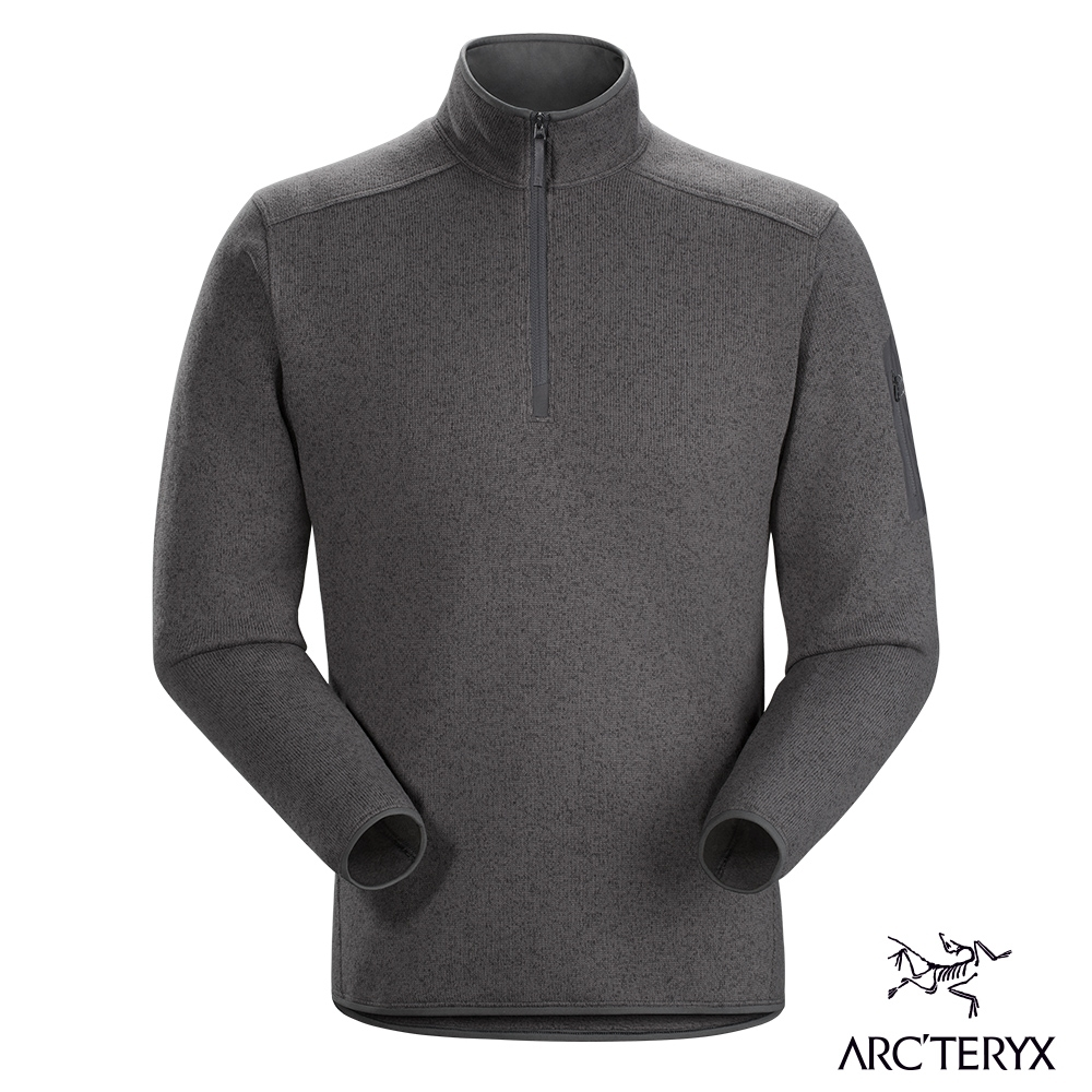 Arcteryx 始祖鳥 男 24系列 Covert 1/2 刷毛套頭衫 機長雜灰