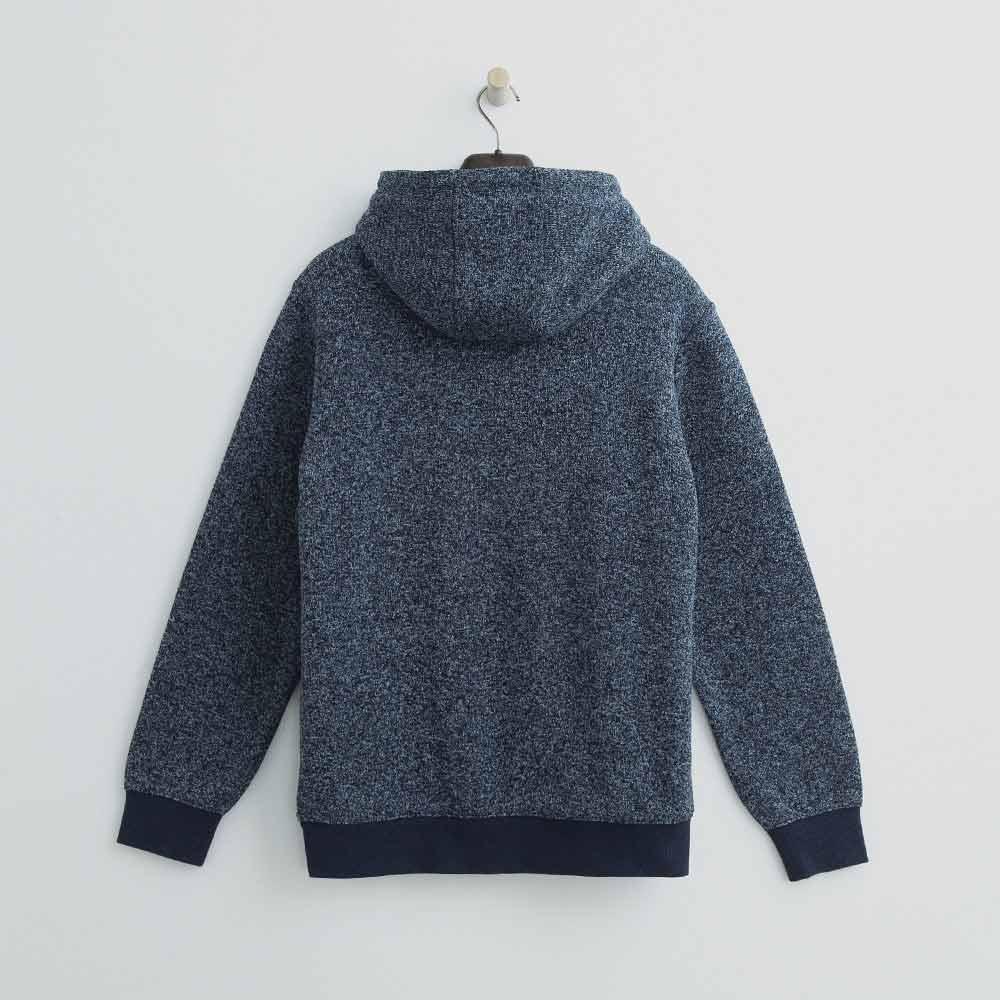 Hang Ten - 男裝 -混織休閒連帽外套 - 藍