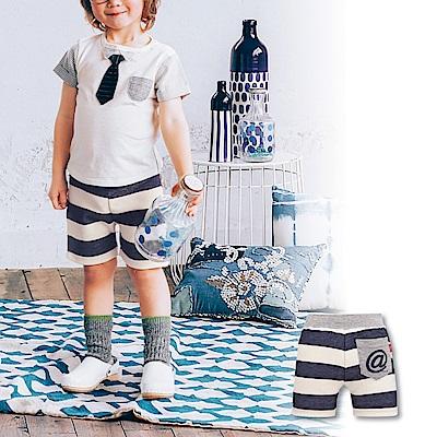 日本雜誌款-日製幼兒三分褲(橫條藍)
